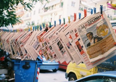 hanging-newspapers